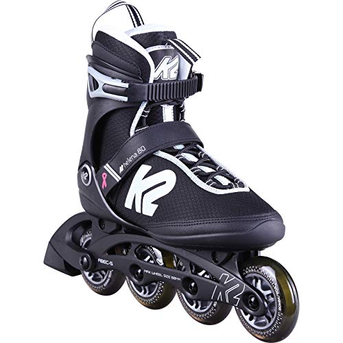 K2 Skates Damen Inline Skate Helena 80 W  — Black - White - Grey — EU: 42 (UK: 8 / US: 10.5) — 30D0402