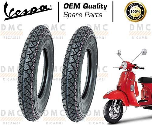 Kit de 2 neumáticos neumáticos tamaño 3,50 – 10 para Vespa PX todos los modelos – Arcobaleno – Vespa LML Star diseño Michelin
