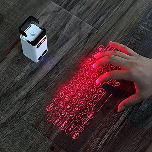 Rcherish Teclado Virtual Portátil con Soporte para Teléfono Móvil, Compatible con Apple iPhone, iPad, Samsung, Teléfonos Inteligentes Android, Tabletas, Computadoras Portátiles, Computadoras