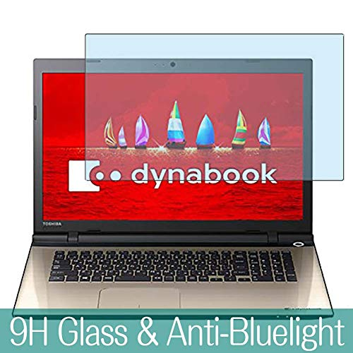 Synvy Anti Blue Light Tempered Glass Screen Protector for Toshiba dynabook T67 / V 17.3' Without Touch Panel 2016 Visible Area 9H Protective Screen Film Protectors