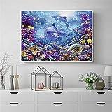 SADHAF Modern shark wall art submarino mundo poster lienzo pintura viento nórdico Living room art decoration A3 50x70cm