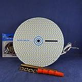 Dual Light Output - 7' Diameter LED Panel for Ceiling Fan Light -- 3700Lumens 17Watts 120Vac. Secondary DIMMED (20%) Output. P/N: SPTL420LMF7-DLO- (20% Dimmed Secondary Light Output [6000K])