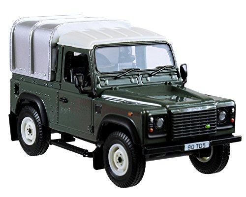 TOMY BRITAINS - Véhicule de Collection, Land Rover Defender 90 pour Adultes 42732, Véhicule Agricole avec Toit Amovible, Pick-up, Modèle à l'Echelle 1/32, Réplique Adaptée aux Enfants de 3 ans+, Vert