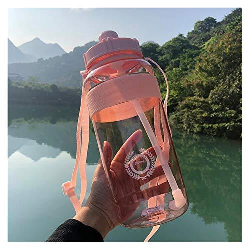 Botella de agua para deportes al aire libre, gran capacidad, portátil, para bicicleta de montaña (capacidad: 2000 ml, color: rosa)