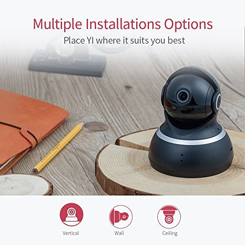 YI Dome Security Camera 1080p HD Pan/Tilt/Zoom 2.4G IP Surveillance System, 24/7 Emergency Response, Auto-Cruise, Motion Track, Night Vision, iOS/Android App - Works with Alexa and Google Assistant