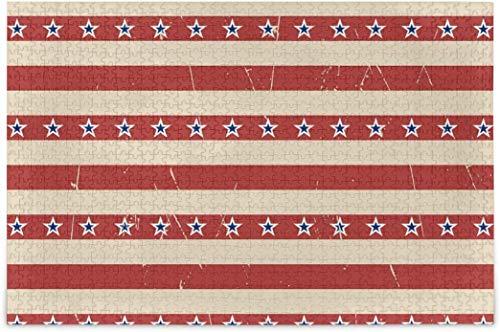 Puzzles für Erwachsene 500 - American Stars Stripes Puzzles Pieces für Kinder Verschiedene Puzzlespiele