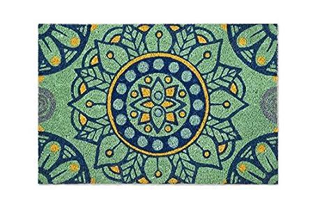 Excelsa Mandala Mediterraneo - Felpudo para Entrada, Fibra de Coco, Multicolor, 40 x 60 cm