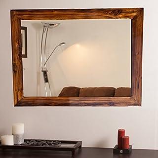 SDG Red Teakwood Mirror (Glass_Silver Black_18 x 24 Inch)