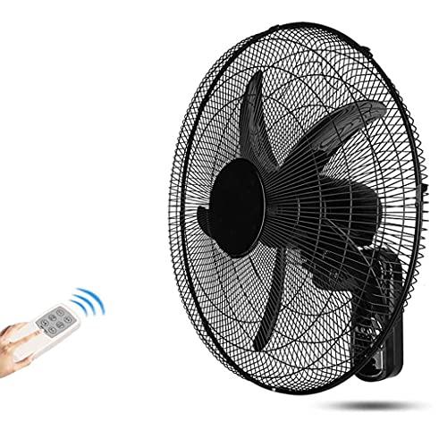 lingyun Ventilador de Pared de 20 Pulgadas para el hogar, Ventilador de Pared para el hogar, Ventilador oscilante Industrial con temporización de Control Remoto, Negro, Funcionamiento silencioso