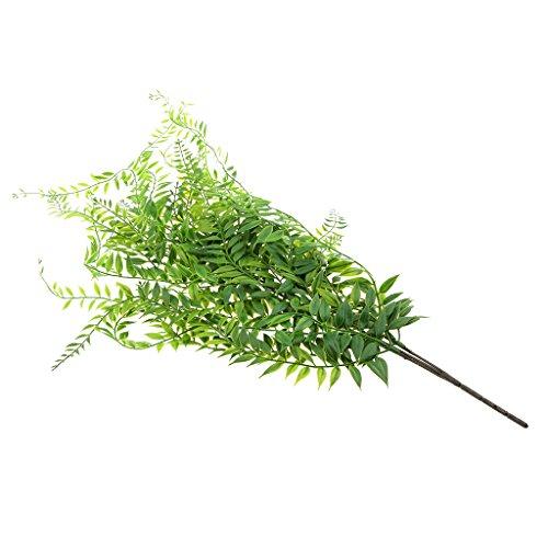 Baoblaze Plantas Artificiales de Hierba Verde: Sauce para Maceta Colgante de Jardín Doméstico
