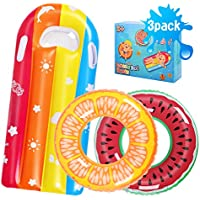 3-Pack Auney Inflatable Swimming Floats