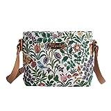 Signare Tapiz mochila bandolera mujer bolsos pequeños mujer con diseño de flores y criaturas de jardín (Flor de primavera)