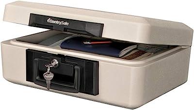 SentrySafe 1160 Fireproof Lock Box, 0.25 Cubic Feet, Dove Gray