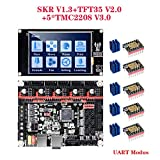 PoPprint SKR V1.3 - Placa base (32 bits, pantalla táctil TFT35 V2.0, 5 unidades) TMC2208 V3.0 - Modo UART para impresora DIY 3D