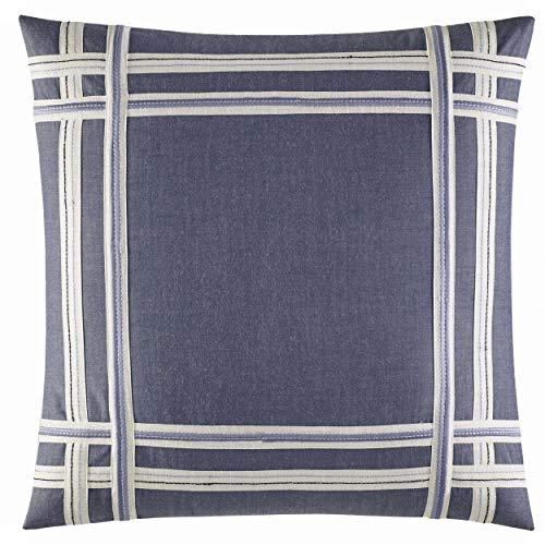 "Nautica 220091 Fairwater 18"" Decorative Pillow,Blue,18x18"