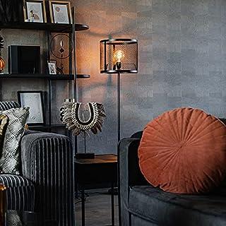Qazqa Lampadaire | Lampe sur pied Industriel - Cage_Robusto Lampe Noir - E27 - Convient pour LED - 1 x 40 Watt