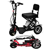 SPEED Mini Triciclo Eléctrico Plegable Scooter Eléctrico Adultos Litio...