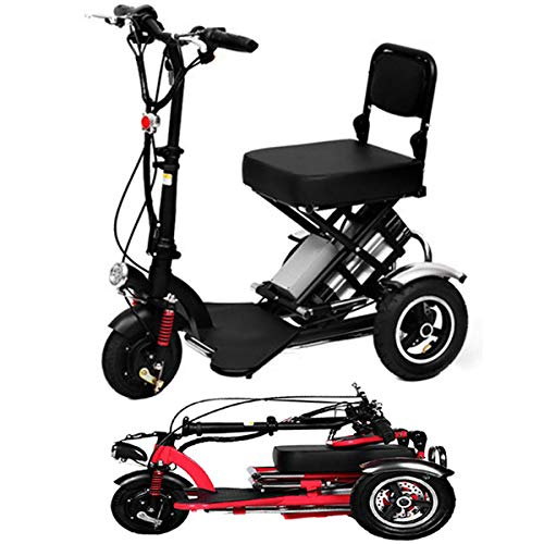 SPEED Mini Electric Tricycle Folding Elektroroller Adult Lithium Portable Für Behinderte ältere Batterie Auto 48V Kann Für 60 Km Dauern Black