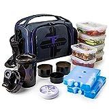 thinkfit isolé préparation des repas gamelle avec 6 alimentaire contrôle des portions conteneurs -