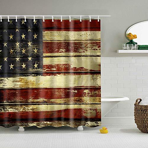 Amerika Großbritannien Nationalflagge Duschvorhang Eagle Printing wasserdichte Badezimmer Polyester Gardinen-G_B150cmxH180cm