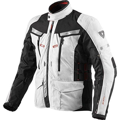 Revit! Textiljacke Sand 2, Farbe Silber-schwarz, Größe 2XL