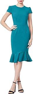 Women's Stretch Crepe Dress with Ruffled Hem