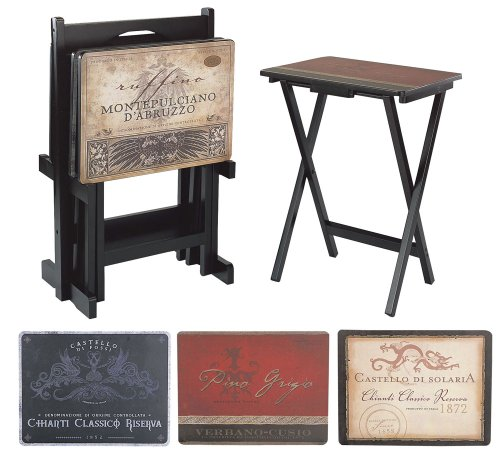 Home Decorators Collection Tuscan Wine Tv Trays Set, Set, Multi