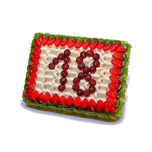 Gummibärchenzauber Fruchtgummi Torte mit Zahl | Gummibärchentorte aus Fruchtgummi | Gummibären Torte als Geschenk | Torte Suessigkeiten | Gummibaerchentorte | Zahl 26 | 780g