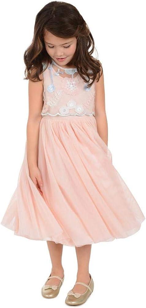 PIPPA & JULIE Lily Peach Floral Popover Dress