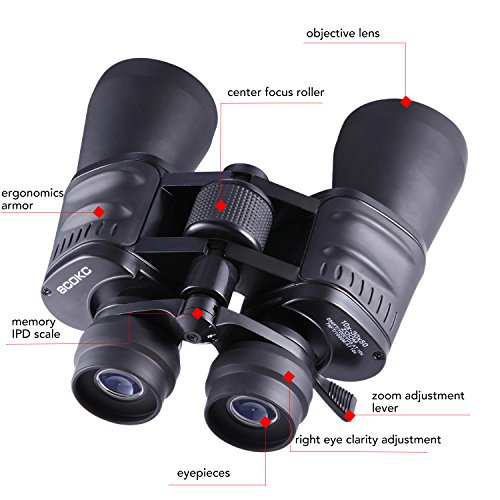 10-30x50 Zoom Binoculars for Adults Bird Watching HD Powered Professional Hunting Telescope, Outdoor Sports Games and Concerts