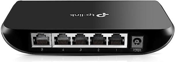 TP-Link 5 Port Gigabit Ethernet Network Switch | Ethernet Splitter | Plug-and-Play | Traffic Optimization | Unmanaged (TL-SG1005D),Black