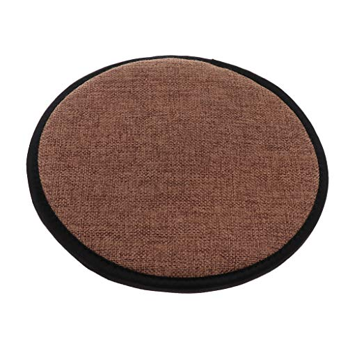 Cotton Brown Office Home Chair Cushion Dining Chair Pads with Gripper Backing,Square,Rectangle,Round Shape for Choice - Round 28cm