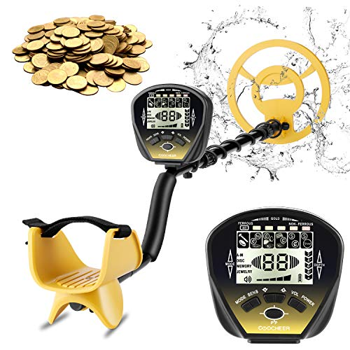 COOCHEER Metal Detector for Adults, 5 Mode Underwater Metal Detector, High Accuracy Adjustable with Big Backlit LCD, Upgraded DSP and Audio Prompts, Carrying Bag and Shovel for Easy Travel Detectors Metal