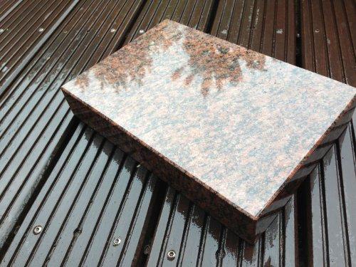 ABC Granitsockel Sockel aus Granit Grabsockel Trittstein Granitplatte Vanga 30cm x 20cm x 5cm