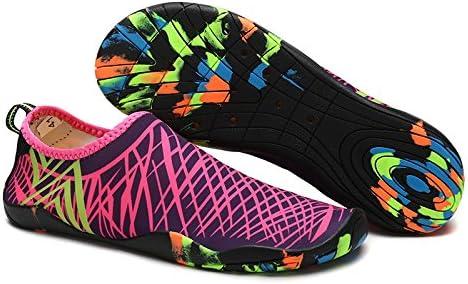 YINI Sneakers Men Women Barefoot Beach Water Shoes Lovers Outdoor Fishing Swimming Bicycle Quick-Drying Aqua Shoes (Color : Navy Blue, Shoe Size : 7.5)