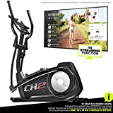 Sportstech CX2–Bicicleta elíptica Ergómetro con control por aplicación Smartphone, peso de inercia 27kg, Bluetooth, 24niveles de resistencia, compatible cinturón cardio, 12programas de entrenamiento, CX2 compatible avec application