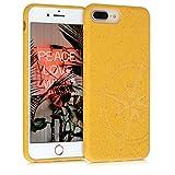 kalibri Funda 100% Biodegradable Compatible con Apple iPhone 7 Plus / 8 Plus - Aguja magnética en Amarillo