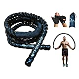 Gorilla Weighted Jump Rope with FREE Weight Gloves Bag for Men Women Kids Total Body Workout Power Training for Beginner Weighted Thick Skipping Exercise Battle Ropes Adult Cardio Fitness Build Muscle Pound Jumping Rope Cuerdas de saltar con peso