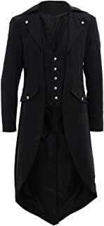 Men's Back Solid Tailcoat Steampunk Gothic Tuxedo Frock