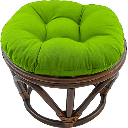 YUNLVC Papasan Round Solid Color Ottoman Tufted Thicken for Indoor Outdoor Garden Patio Chair Cushion Footstool Cushion Papasan -18Inch Green