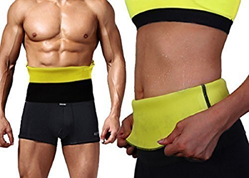 MARK AMPLE Sweat Shaper Belt, Belly Fat Burner for Men and Women (Black, X-Large)