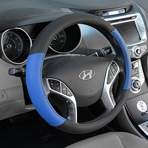 BDK SW-603-BL_am Steering Wheel Cover, Blue, S