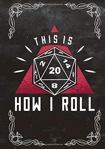 RPG D20 Dice roll Bordgame NOTEBOOK A4: Dragon Journal Hexagon Hexagonal Hexsmall Hex writing Paper with 120 Pages A4 (8,27 x 11,69 inches) RPG Dice ... Role Playing Games Tabletop play gifts