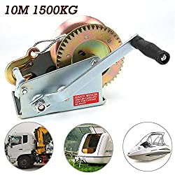 Allright winch boat winch hand winch with wire rope 1500 kg 10 meter winch car attachments