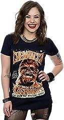 Star Wars mujer Chewbacca Rock Poster Camiseta Medium marino oscuro