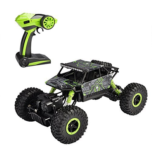 SZJJX RC Rock Off-Road Vehicle 2.4Ghz 4WD High Speed 1:18 Racing Cars RC Cars Remote Radio Control Cars Electric Rock Crawler Electric Buggy Hobby Car Fast Race Crawler Truck-Green