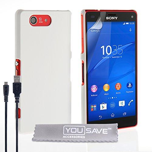 Yousave Accessories® Compact Carcasa híbrida rígida para y Cable Micro USB para...