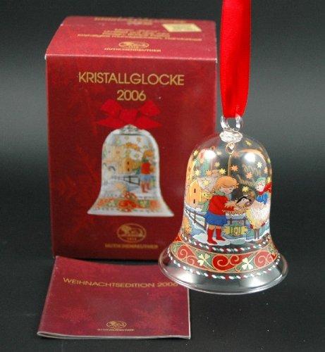 Hutschenreuther Kristall Glocke 2006*Rarität*Neu, Glasglocke, Kristallglocke, Weihnachtsglocke, Weihnachten, Baumanhänger, Anhänger, Baumschmuck