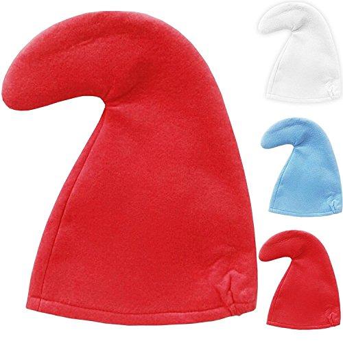 Puffo Cappello Gnomi Costume Bambini Misura - Bianco, Misura bambini