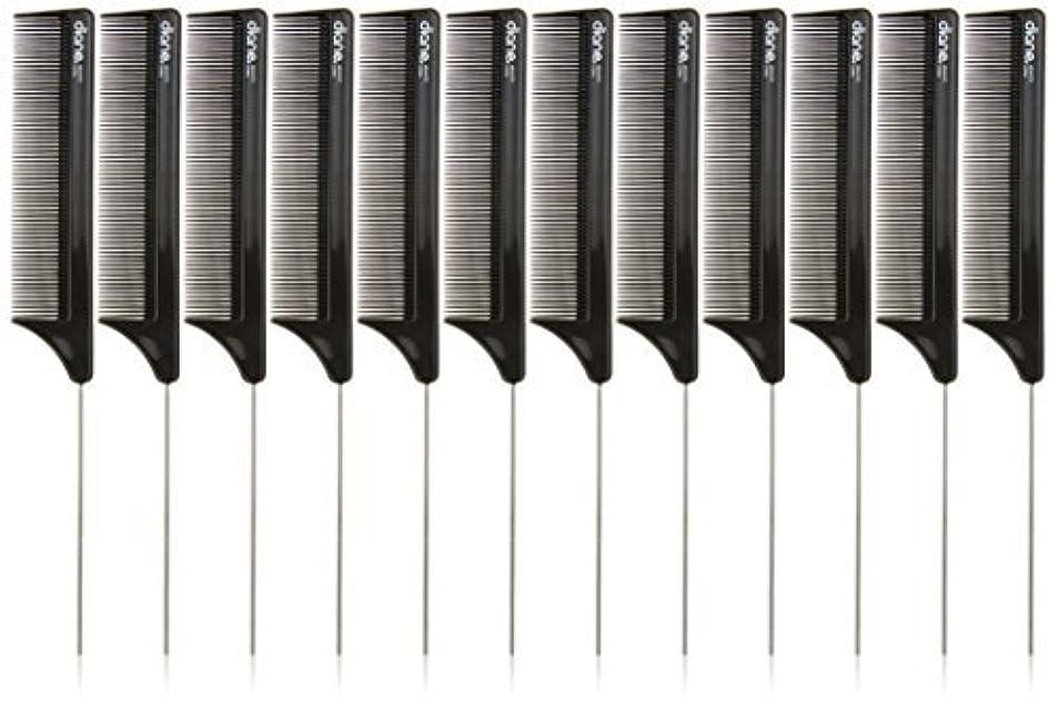 永久振り返る挑発するDiane Pin Tail Comb Dozen, Black, 8.25 Inch [並行輸入品]